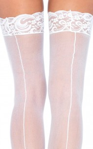 Leg Avenue - 1101 Sheer Stockings With Backseam