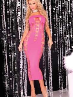 543d55d17f85 Pink Lipstick - 25012 Big Spender Seamless Long Tube Dress