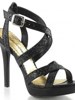 1a199bbdf812 Pleaser - LUMINA21 Platform Double Criss Cross Ankle Strap Sandal