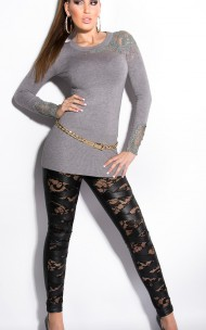 Forever Sexy - IN50401-1 Leggings With Lace